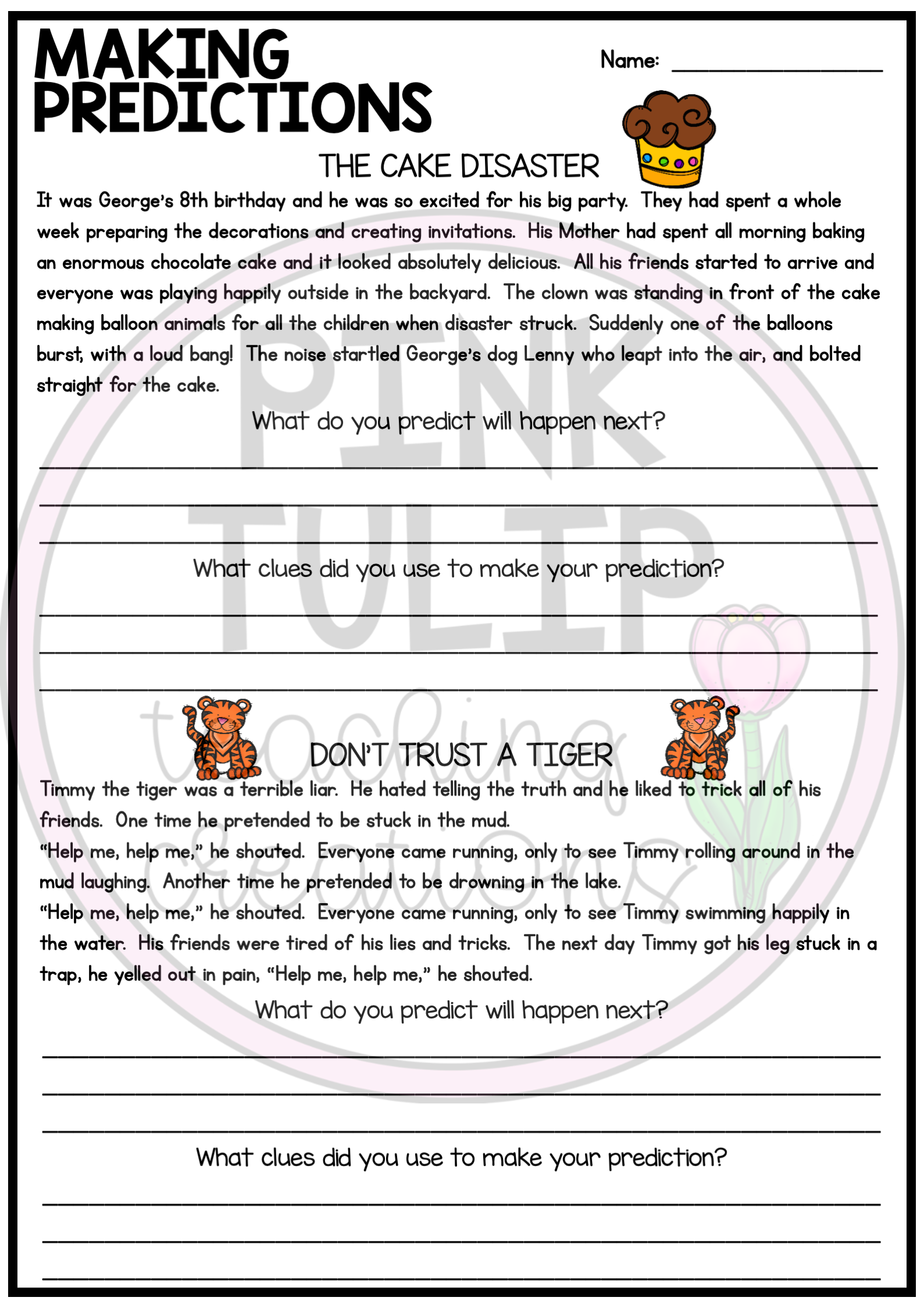 Making Predictions Reading Worksheet Pack Reading Worksheets Summarizing Reading Reading Comprehension Resources [ 2249 x 1589 Pixel ]