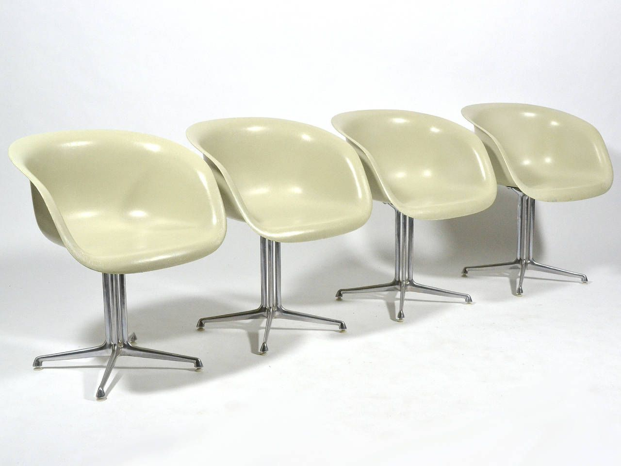 Set Of Four Eames And Girard Armchairs For La Fonda By ...
