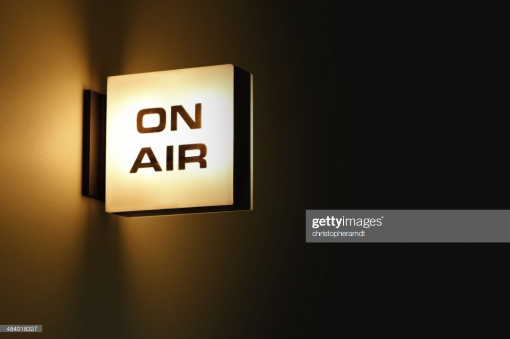 On Air Recording Studio Light Glowing In A Dark Hallway Recording Studio On Air Sign Warning Lights