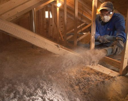 Saving energy blown attic insulation homeenergyimprovements home diy blown insulation in attic solutioingenieria Gallery