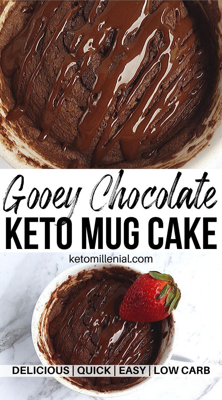 Keto Chocolate Mug Cake Almond Flour Recipe Keto