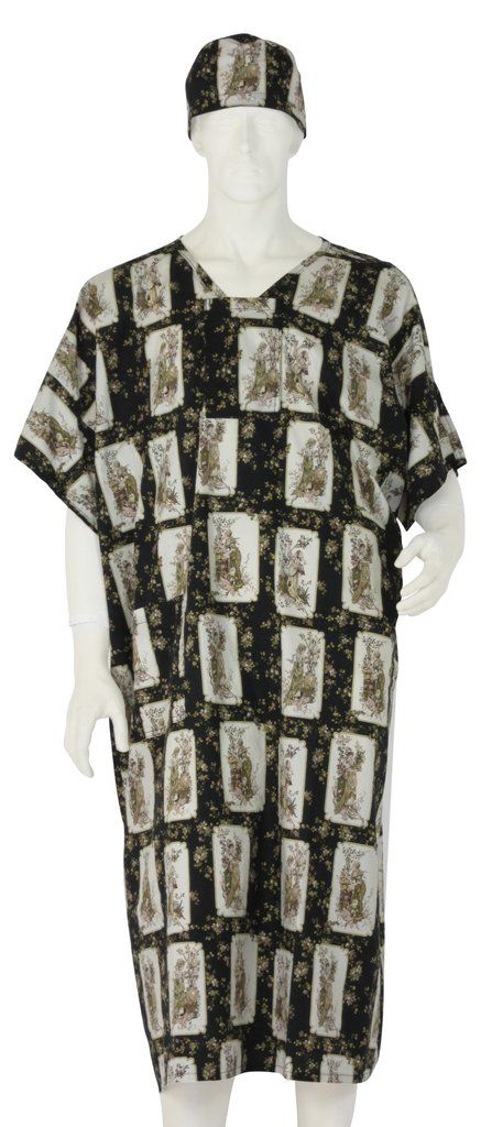 Hospital Gowns Antique Impressions - Large / Black | Products