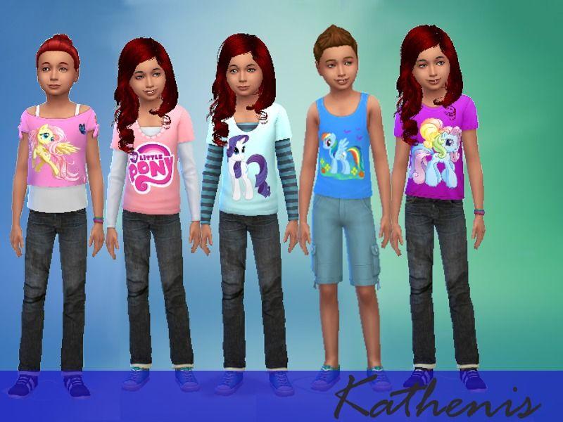 Kathenis My Little Pony Kids Set Kids Set Sims 4 Children Sims Baby
