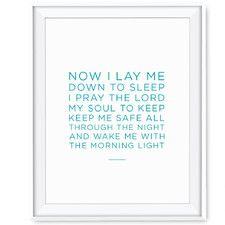 Now I Lay Me to Sleep Paper Print