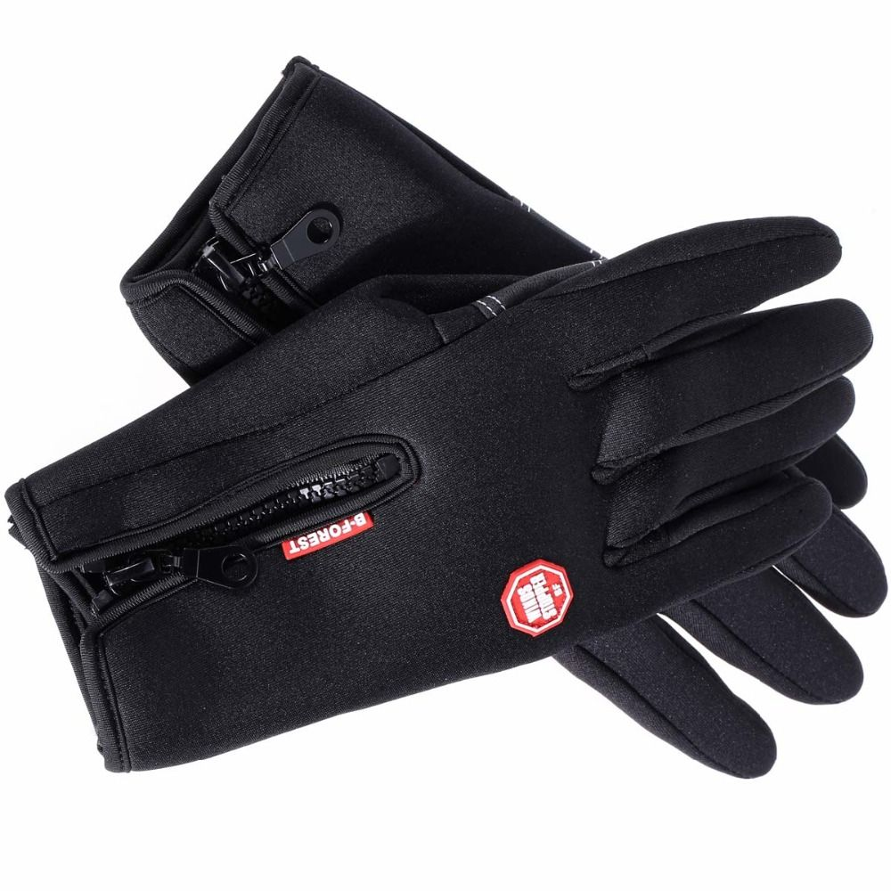 Motorcycle gloves dubai - Winter Sports Waterproof Ski Snow Motorcycle Gloves Warm Windproof Cycling Bike Outdoor Full Finger Bicycle Gloves
