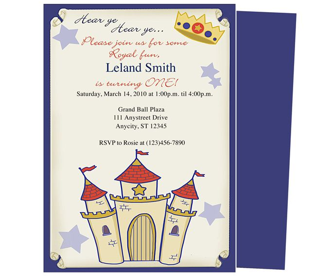 Babyu0027s Birthday Party Invitations Templates : Charming First Birthday  Invitation Template For Your Little Prince! Easy To Edit With Word,  Publisher, ...  How To Word A Birthday Invitation