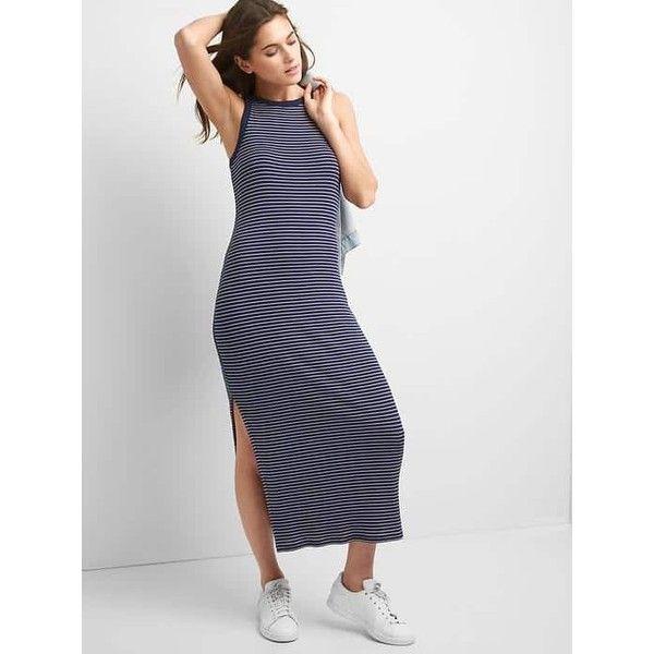 White maxi dress gap.