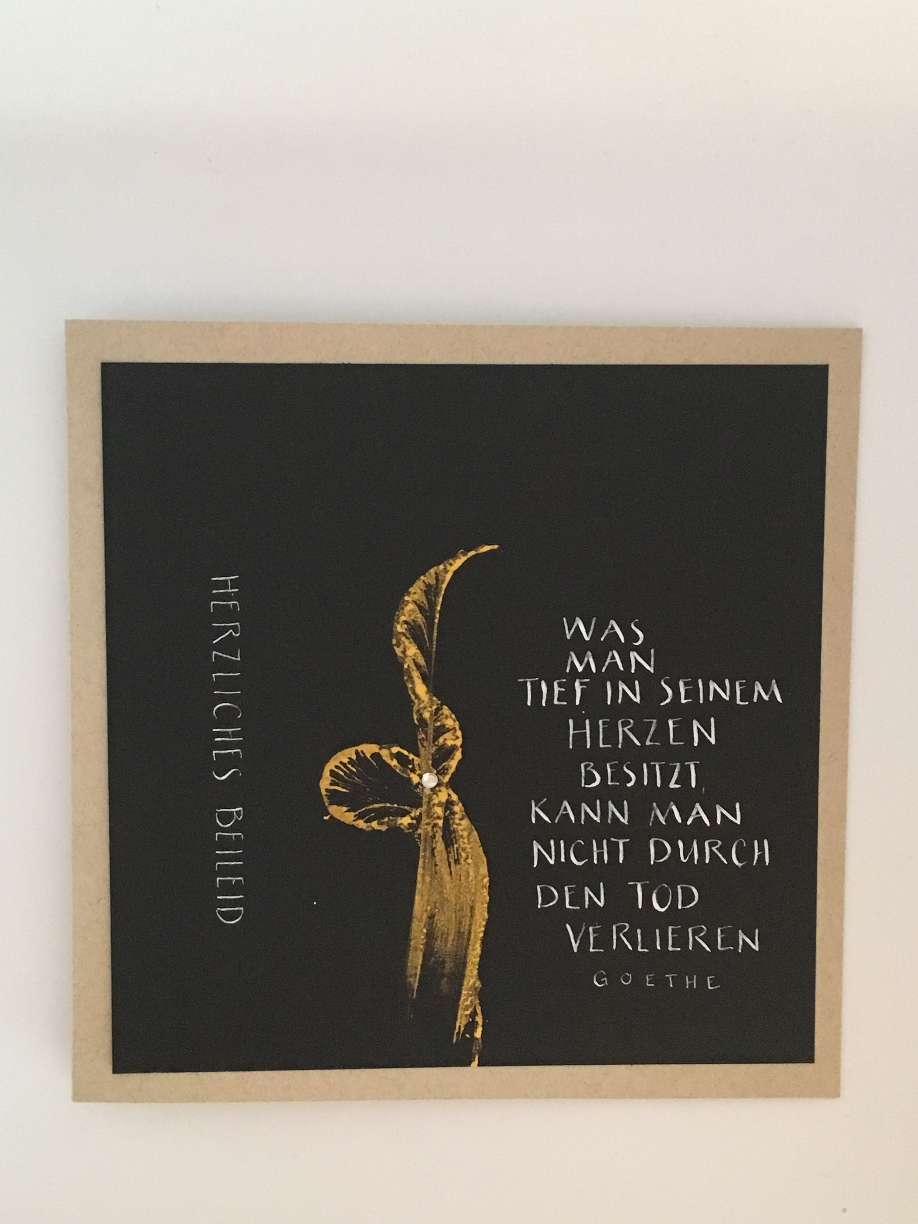 Trauerkarte Kalligraphie Trauerkarte Schreiben
