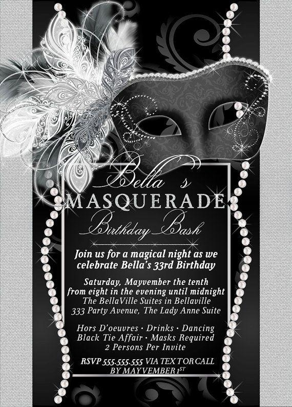 masquarade invitation