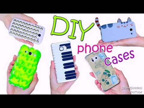 5 diy phone case designs how to make slime pusheen for Piani casa tetto hip