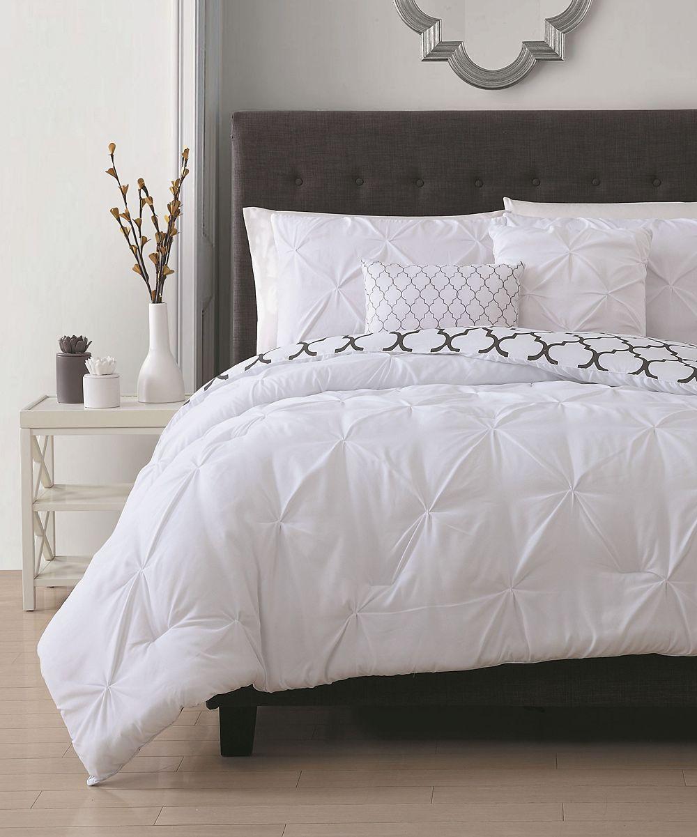 White Madrid Comforter Set