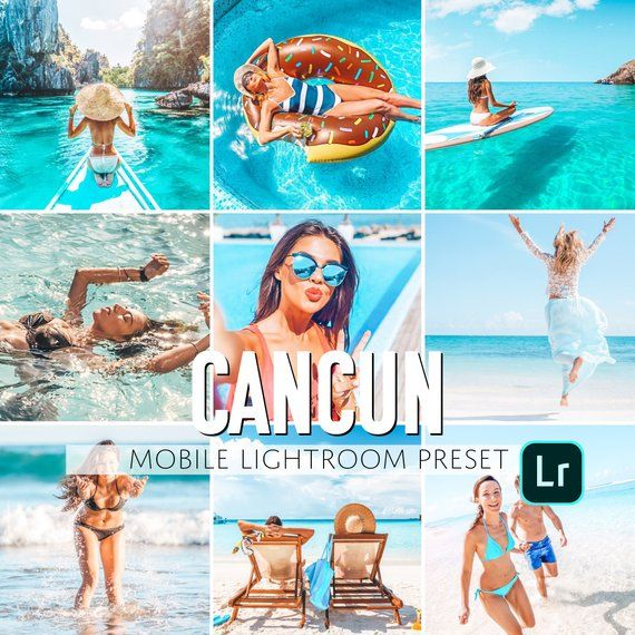 Mobile Lightroom Preset / Cancun Beach Mobile Preset / Blogger