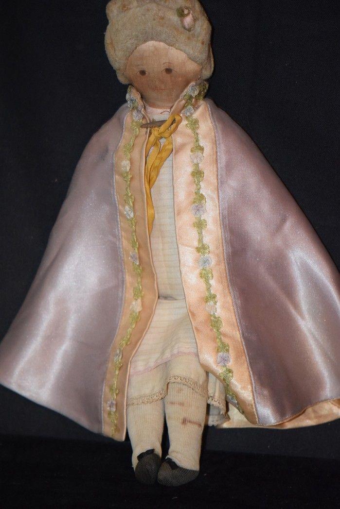 Old Doll Cloth Rag Unusual Fancy