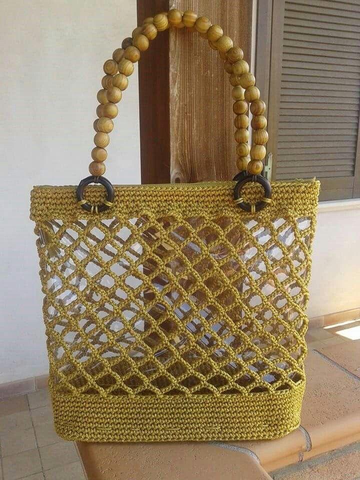 Borsa Rete Borse Uncinetto Crochet Knitting E Bags