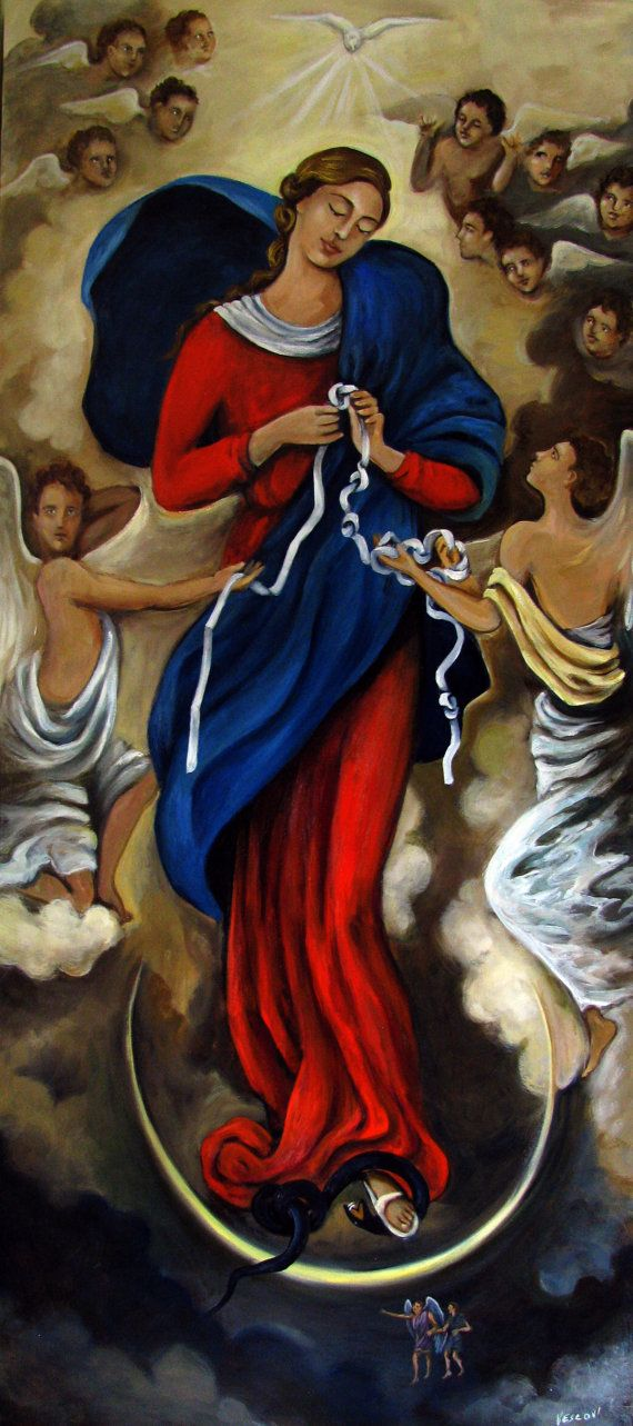 Our Lady Undoer of Knots giclee by GalerieVie on Etsy, $100.00