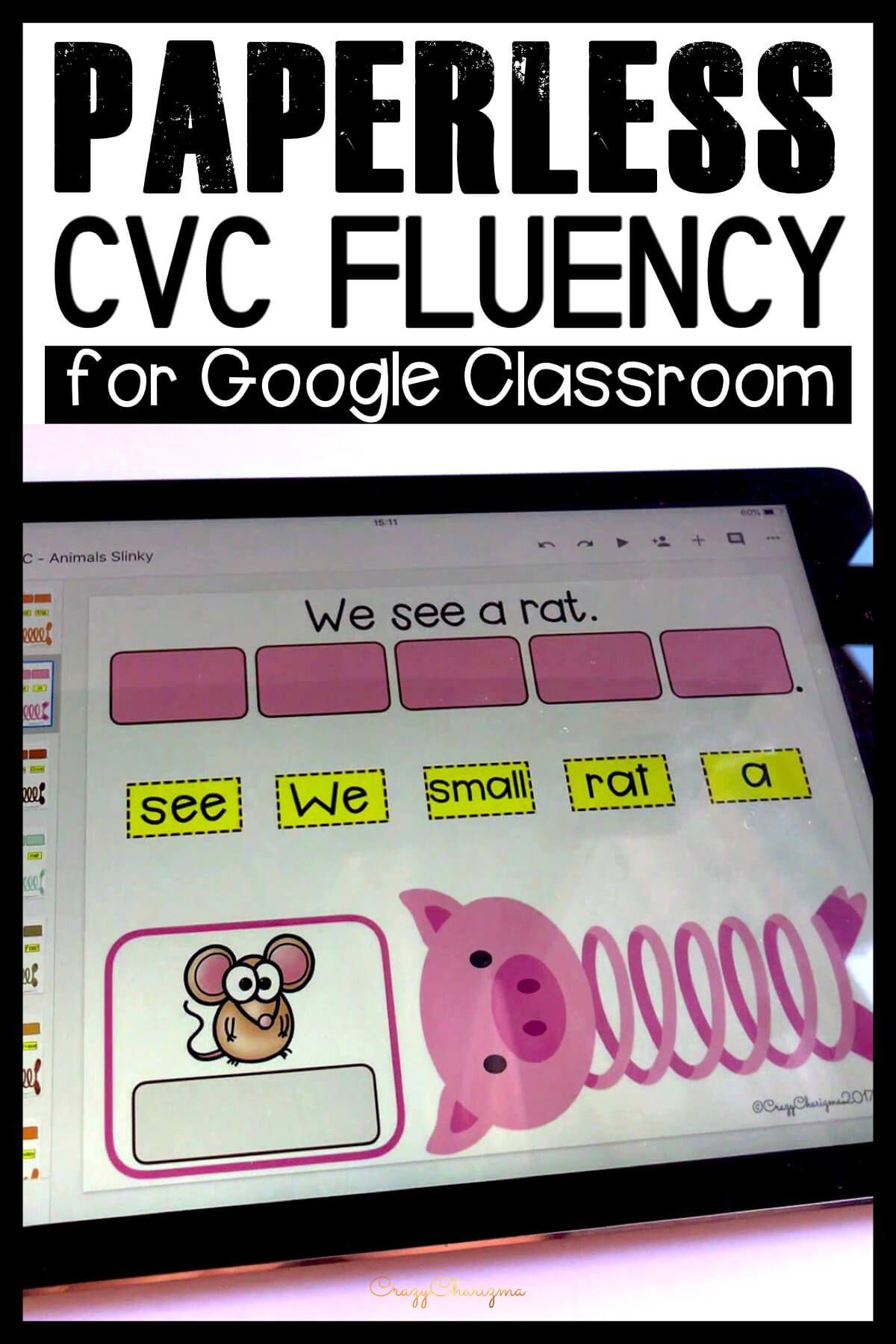 Google Classroom Activities Google Classroom Activities Google Classroom Kindergarten Cvc Words Kindergarten