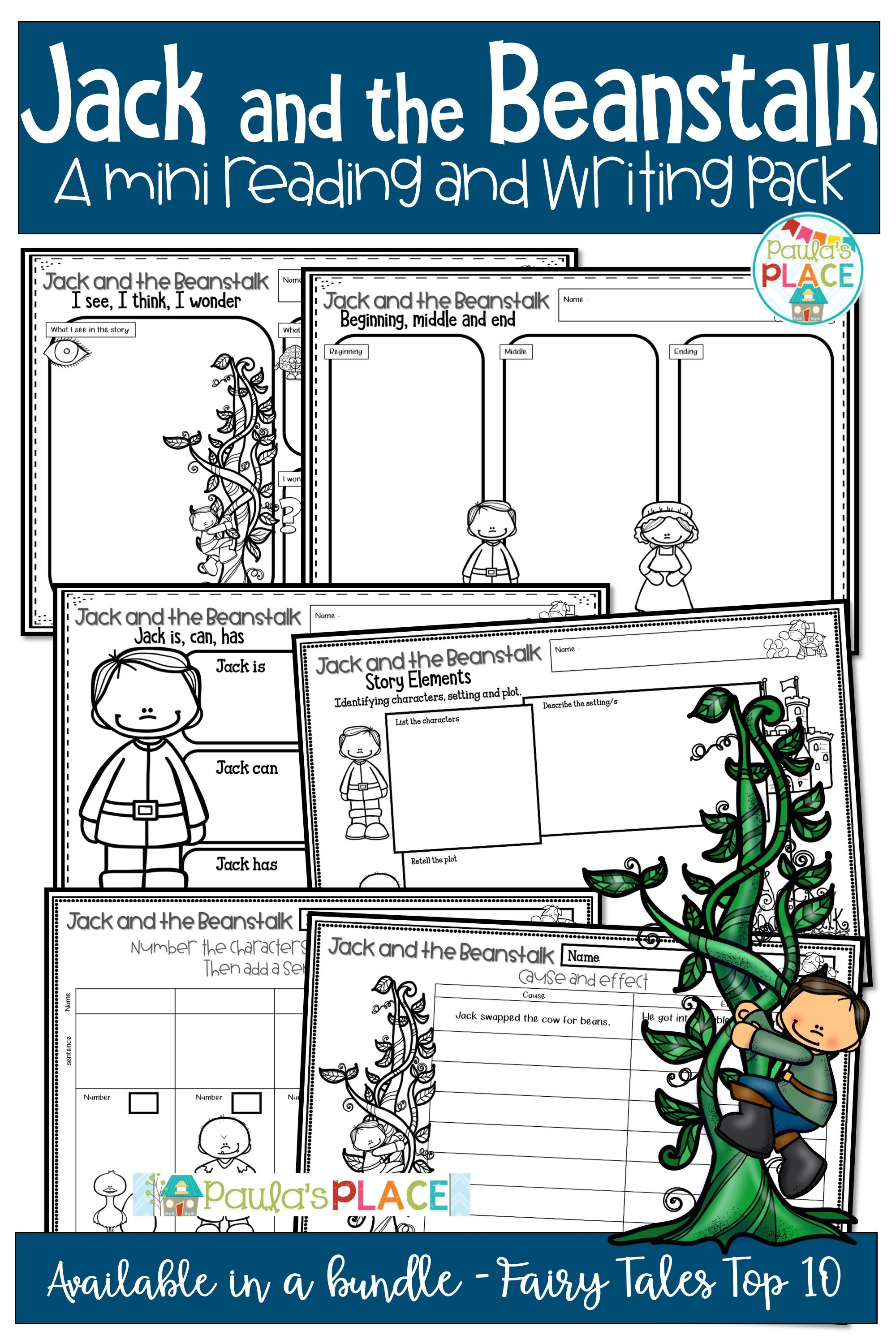 Jack And The Beanstalk Mini Reading And Writing Activities