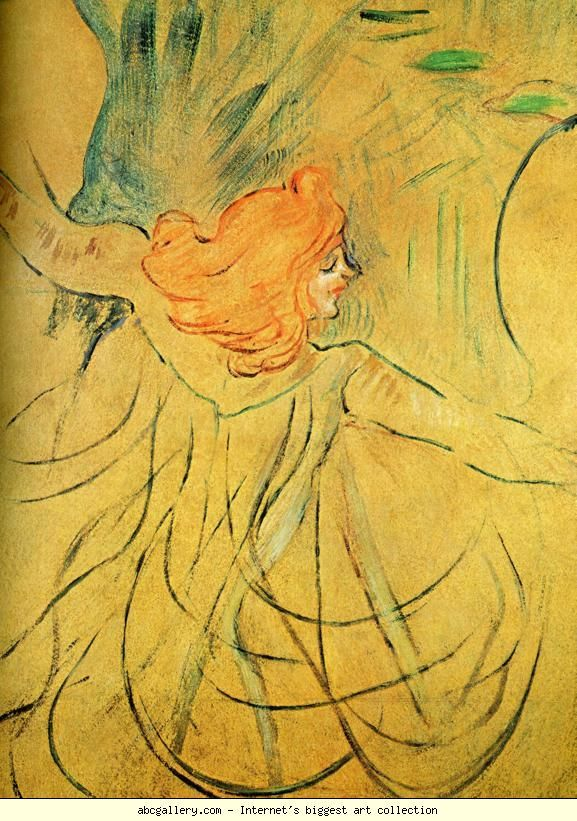 Henri de Toulouse-Lautrec. Loie Fuller. 1892. Oil thinned with turpentine on tracing paper mounted on cardboard. 46 cm x 32 cm. Private collection ✏✏✏✏✏✏✏✏✏✏✏✏✏✏✏✏  ARTS ET PEINTURES - ARTS AND PAINTINGS  ☞ https://fr.pinterest.com/JeanfbJf/pin-peintres-painters-index/ ══════════════════════  Gᴀʙʏ﹣Fᴇ́ᴇʀɪᴇ ﹕☞ http://www.alittlemarket.com/boutique/gaby_feerie-132444.html ✏✏✏✏✏✏✏✏✏✏✏✏✏✏✏✏