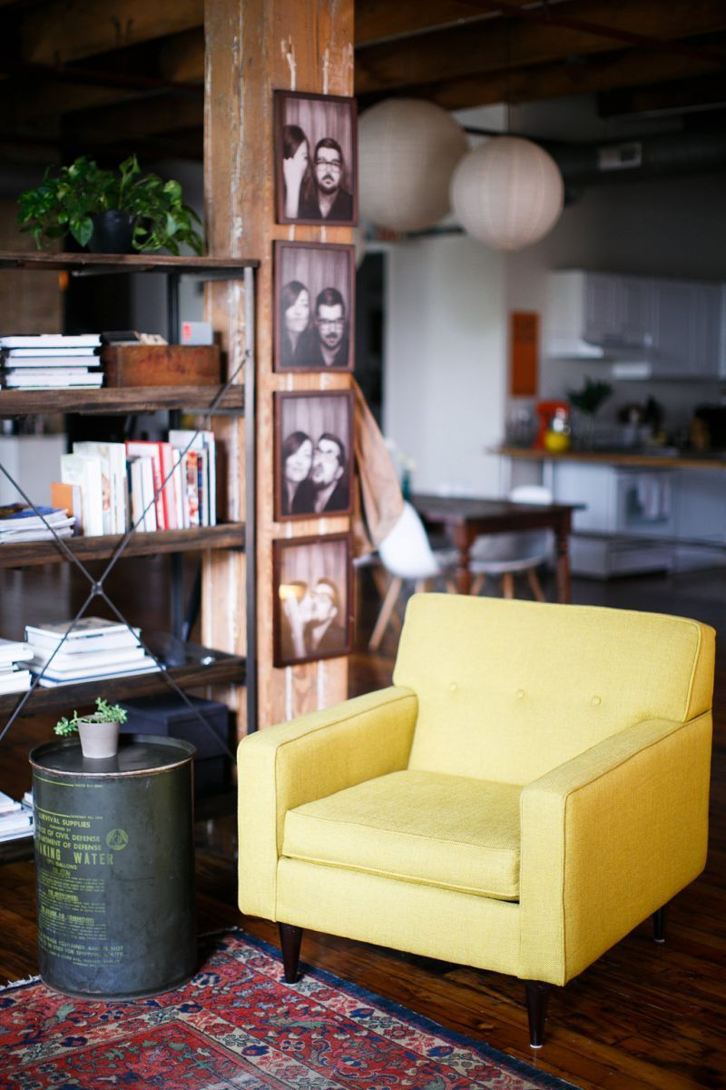 Nicole McQuade\'s Chicago Apartment | Apartments, Yellow armchair and ...