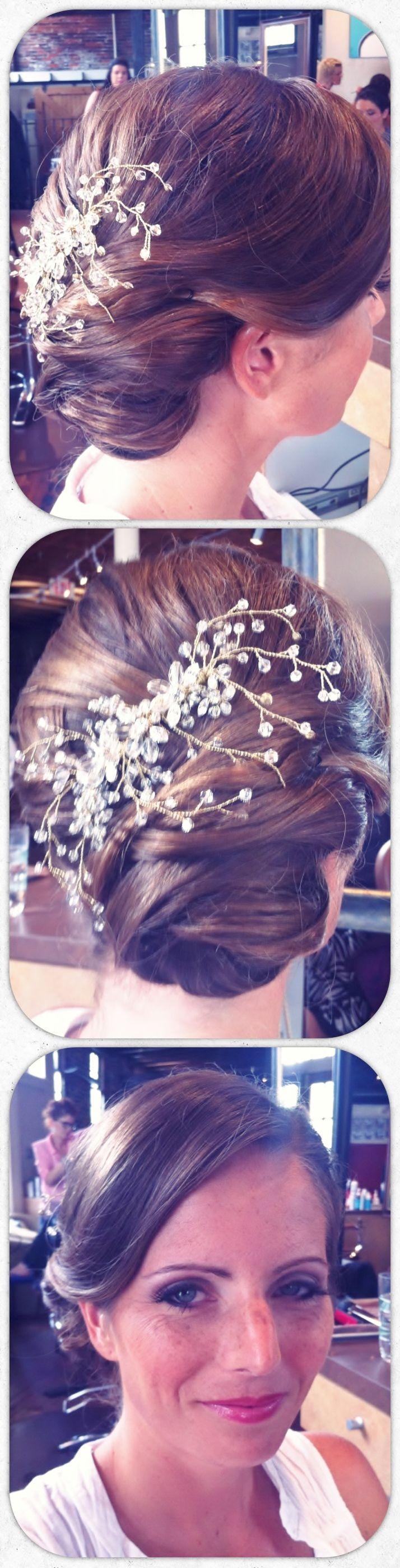 Bridal Hair by Jessica Combs - Makeup by Dana Clift of Blaze Salon #Blaze Salon #Blaze #BridalHair #Bride #Hair #Wedding #WeddingHair #Updo #UpdoArt #BridalMakeup #Makeup #make-up