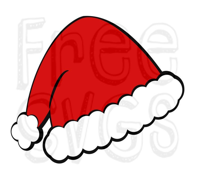 Free Santa Hat Svg File Christmas Svg Files Free