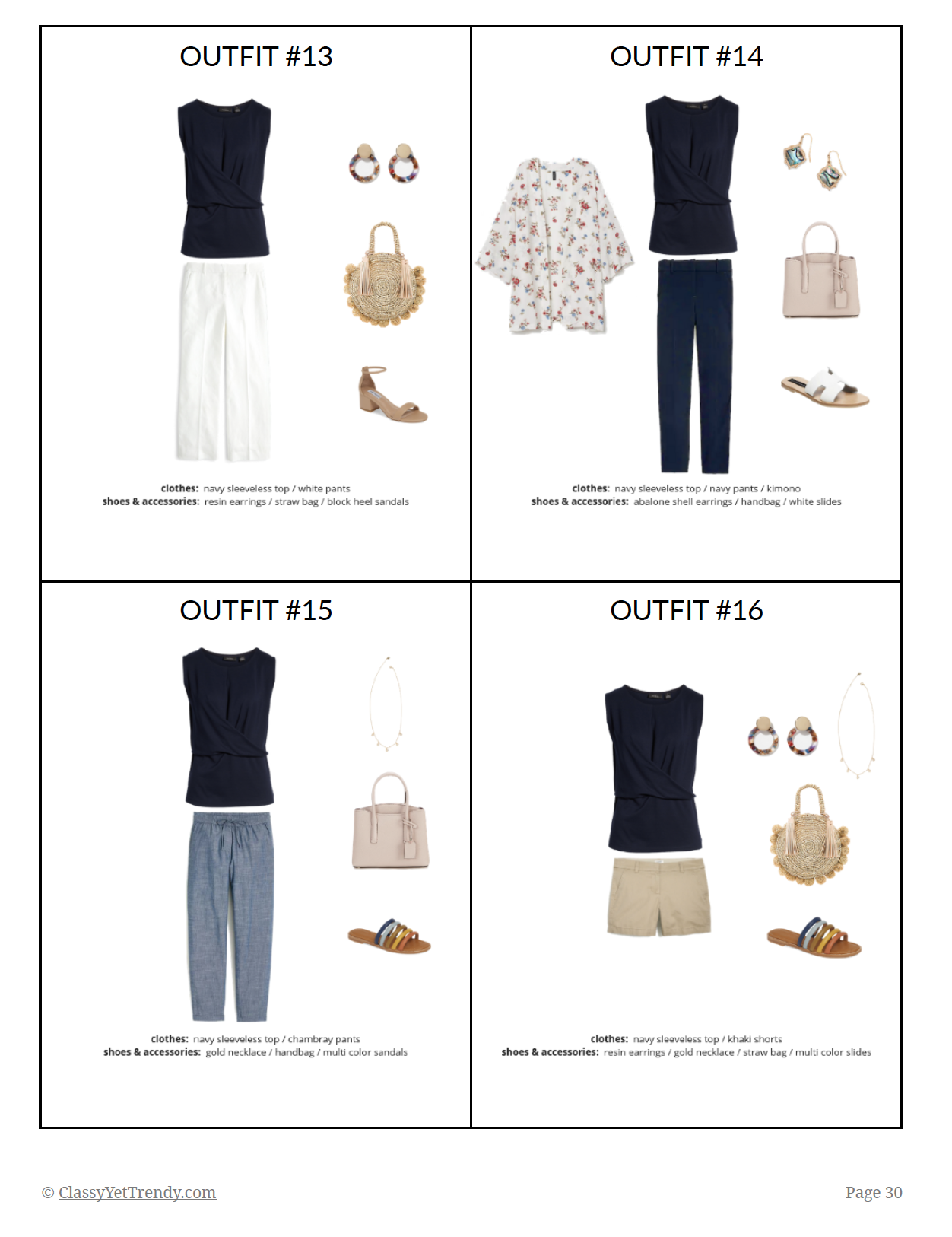 The Essential Capsule Wardrobe: Summer 2019 Collection - Classy Yet Trendy #travelwardrobesummer