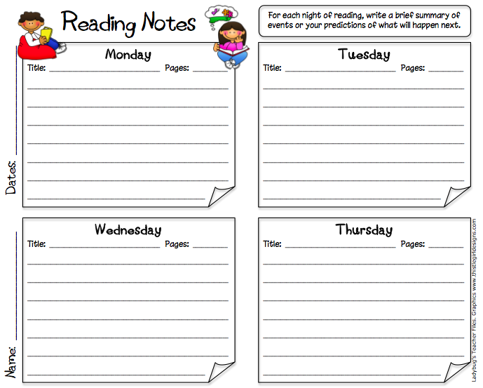 Extending the Reading Log | Reading logs and Independent reading