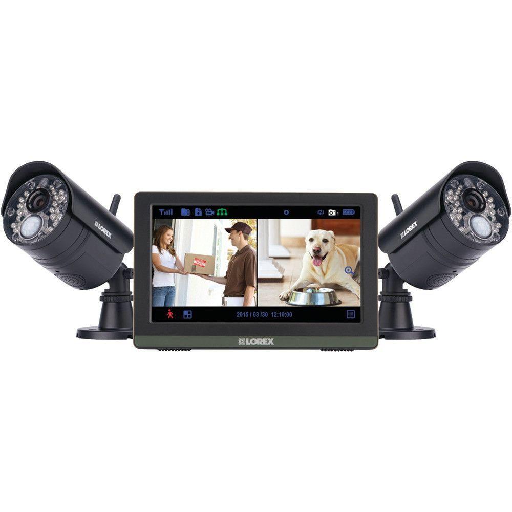 Lorex By Flir Wireless 4-channel 720p Hd Touchscreen Surveillance ...