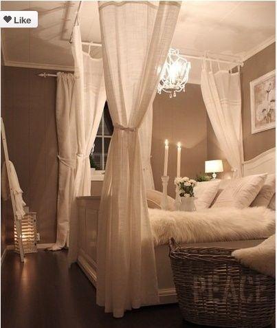 Romantische slaapkamer - brocante | Pinterest - Slaapkamer ...
