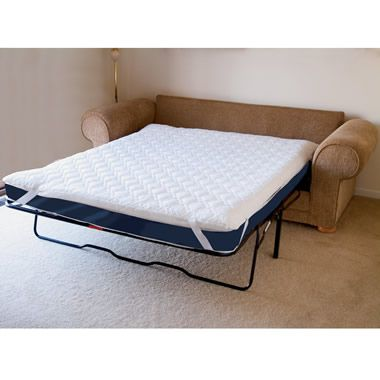 The Memory Foam Sofabed Mattress Pad Queen Hammacher