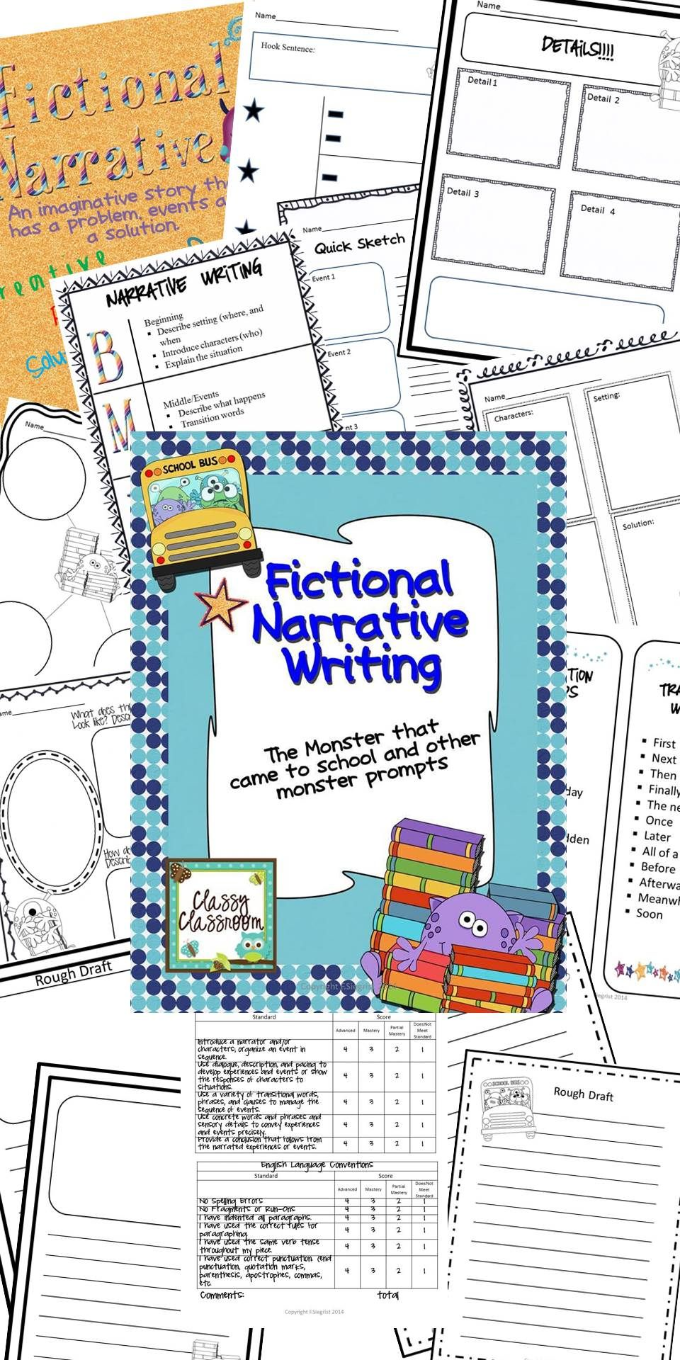Narrative Writing Common Core Imaginative Monster Prompts With