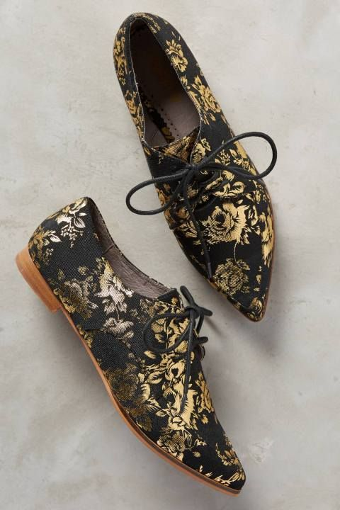 Gilded Rosebloom Oxfords by Farylrobin #anthroregistry