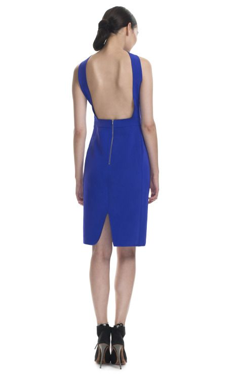 Beautiful Back: Dion Lee Ultra Violet Bi Stretch Backless Dress