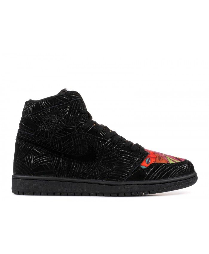 0bc638c7509 Air Jordan 1 Retro High OG LHM Los Primeros Black Black Multi Color AH7739  001