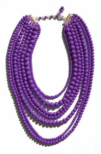 Purple Seven Layer Necklace | $16 | jewelboxonline.com