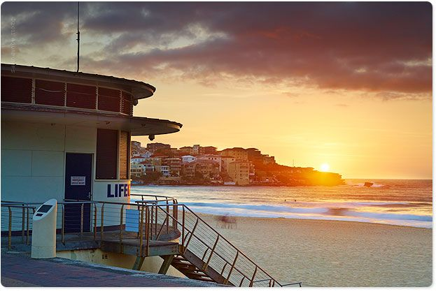 e18bd563c31 Lifeguard tower at Sunrise Bondi Beach Australia