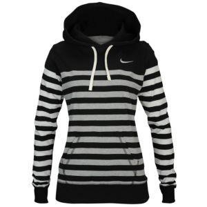 Nike Stripe Pullover Hoodie - Women's - Black/Sail http://ibeebz ...