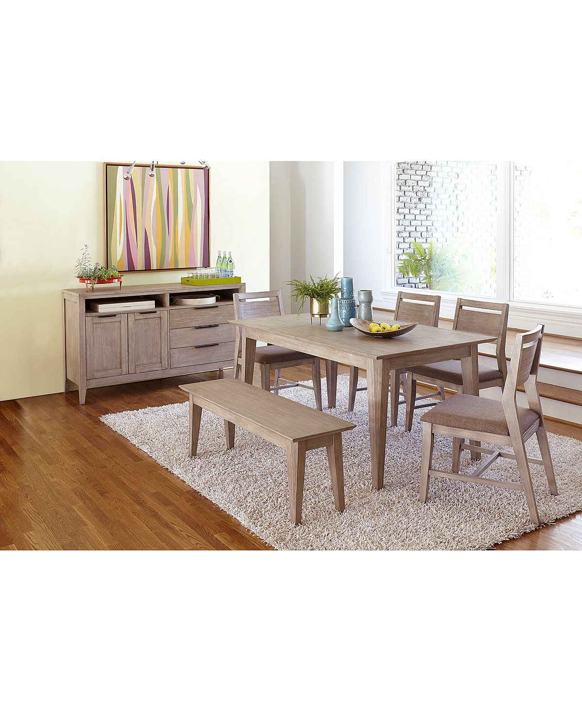 Kips Cove Dining Furniture, 4-Pc. Set (Dining Table, 2 Side Chairs ...