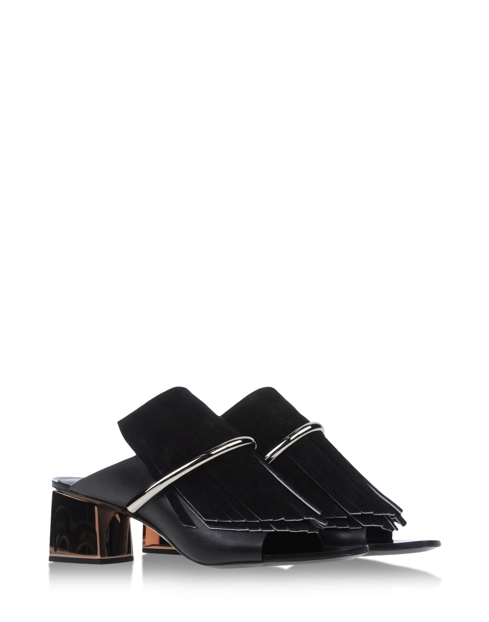 Proenza Schouler Woman Two-tone Leather Mules Off-white Size 36 Proenza Schouler 5Es7BmusOx