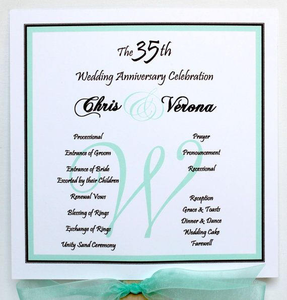 Mint Fantastic Vow Renewal Fan Program Front And Back Sides Fully Customized