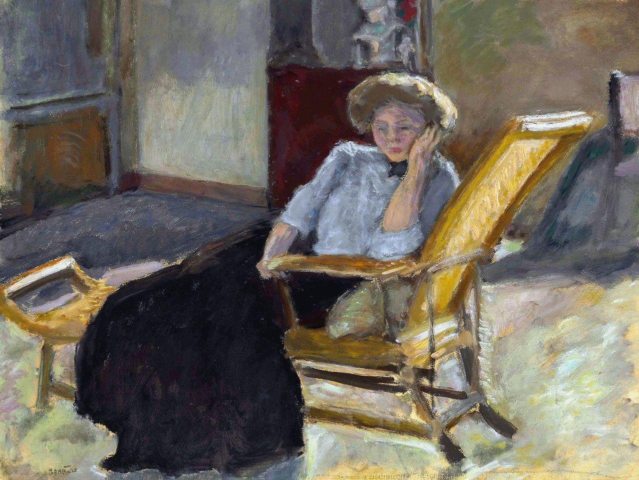 lawrenceleemagnuson pierre bonnard france 1867 1947 jeune femme assise sur une chaise. Black Bedroom Furniture Sets. Home Design Ideas