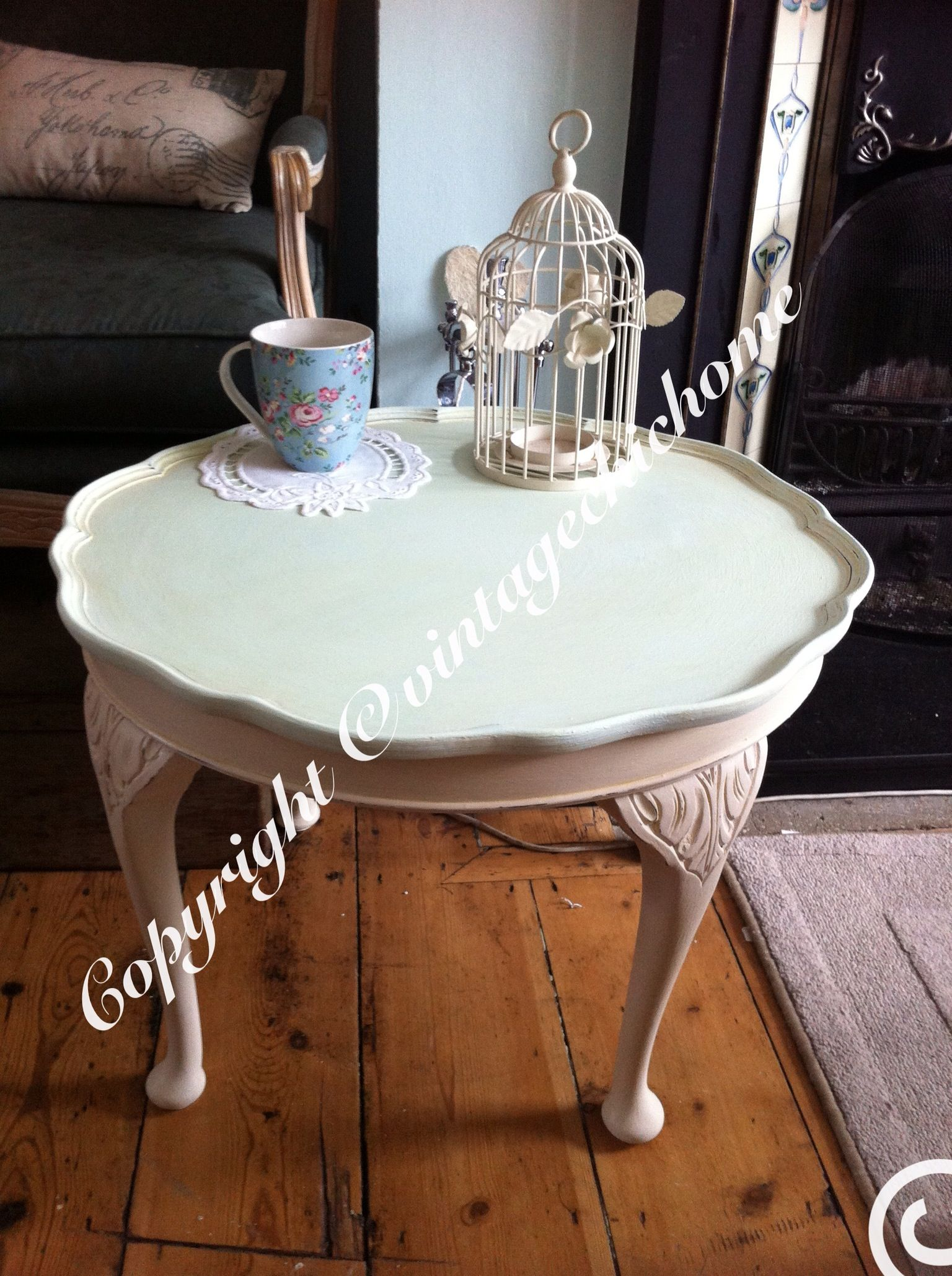 shabby chic # chalk paint coffee table stunning scalloped tray