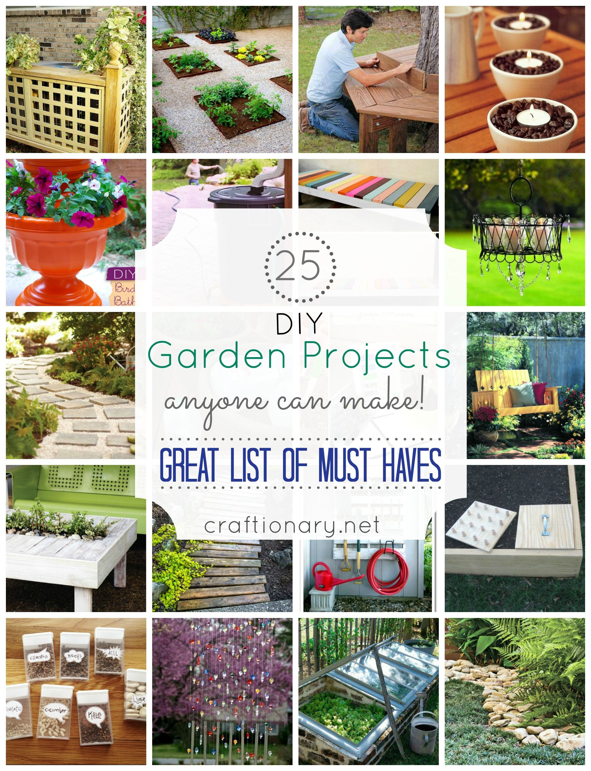 25 DIY Garden Projects Anyone Can Make - Craftionary