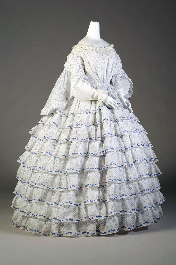 Day dress, 1850's