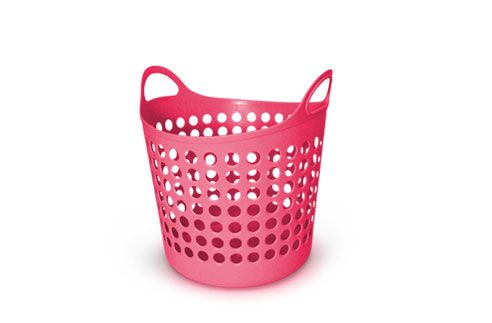 Pink Plastic Laundry Basket Laundry Basket  It Comes In Pink  Pinterest