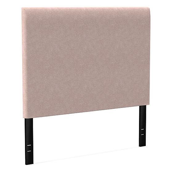 Andes Tall Headboard, Cal King, Distressed Velvet, Light Pink