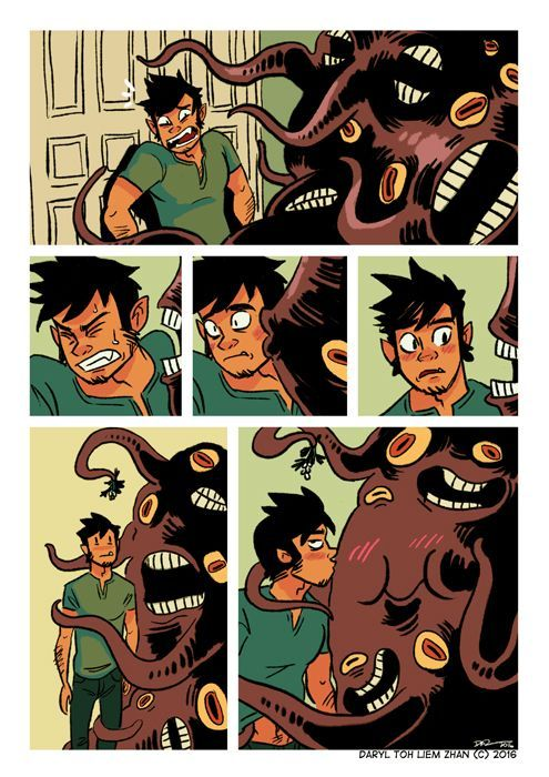 Mistletoe comic strip