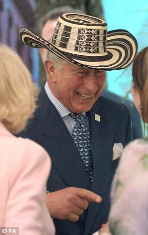 Relaxed: Prince Charles was on noticeably good form during the visit to Colombia, which also saw Camilla speak out on behalf of rape victims