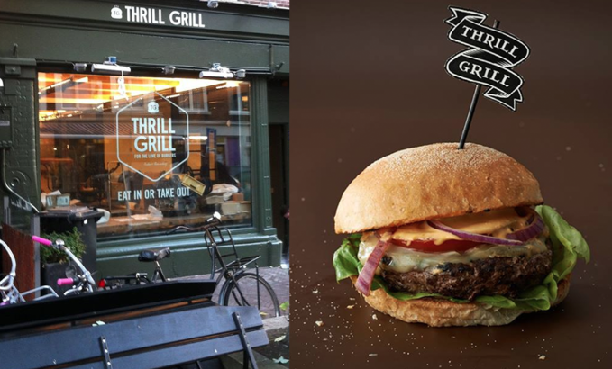 Thrill Grill, an initiative by star cook Robert Kranenborg, opened today at the Gerard Doustraat 68, in the centre of Amsterdam. #greetingsfromnl #amsterdam #burgerbar #depijp