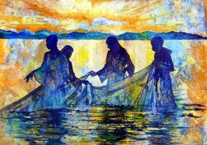 Image result for prophetic art fishers of men